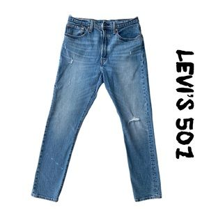 Levis Mens 501 Button Fly Skinny Jeans Size 30x29